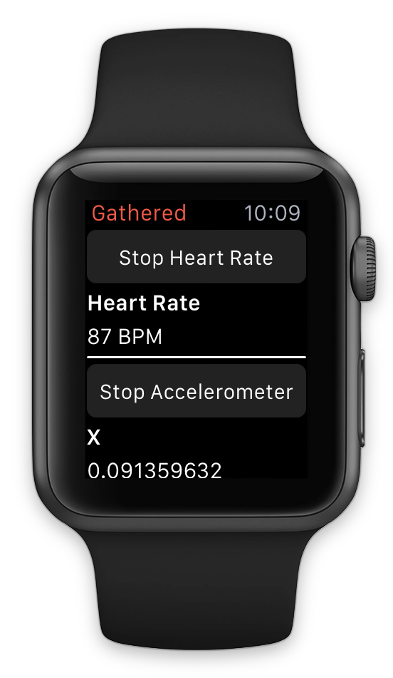View data sources on Apple Watch